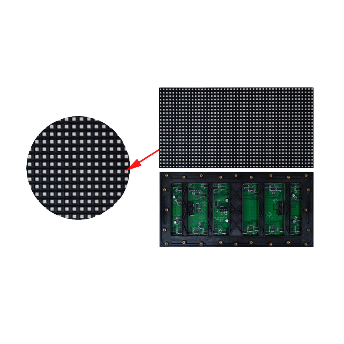 P6.6L Outdoor SMD LED Display Module 320*160mm SMD3535 5000cd/㎡ Brightness 1920Hz High Refresh