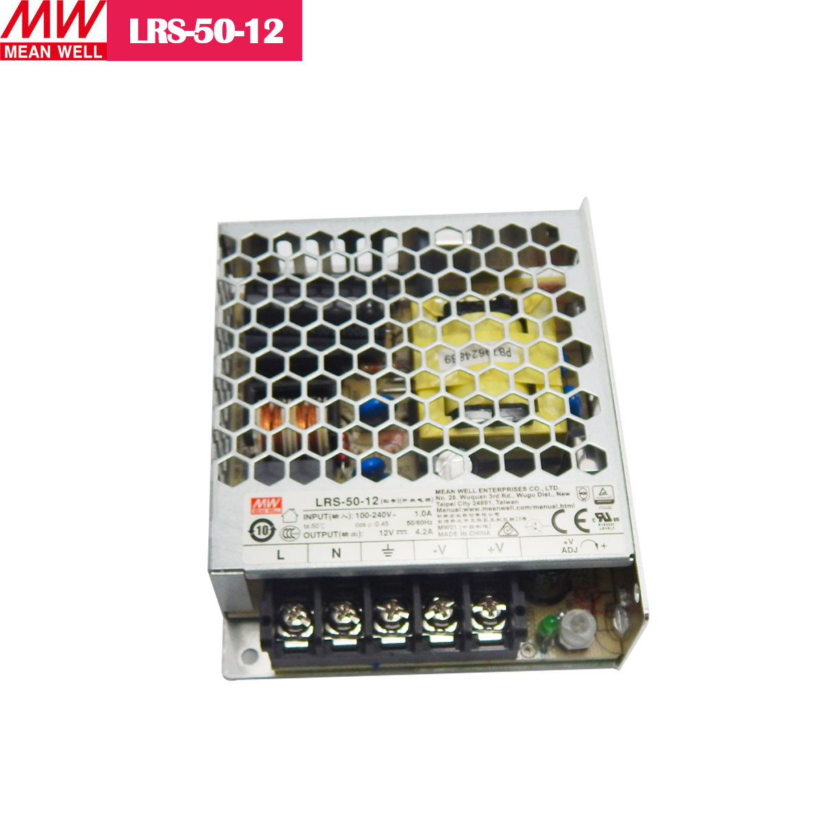 12V 4.2Amp 50.4W MEANWELL UL Certificated LRS series Switching Power Supply