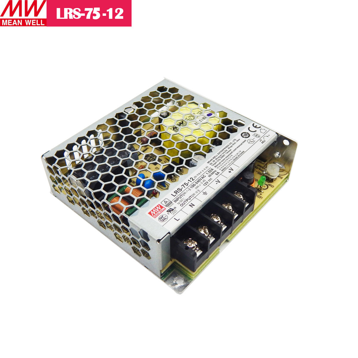 12V 6Amp 72W MEANWELL UL Certificated LRS series Switching Power Supply