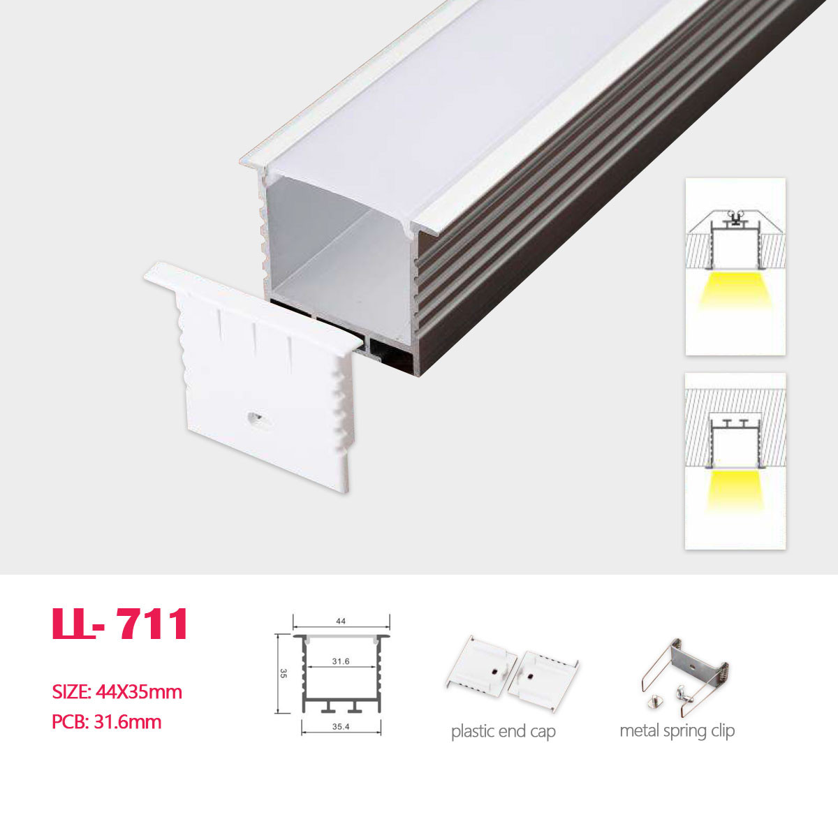 1m 3 28ft 44mm 35mm Led Square D
