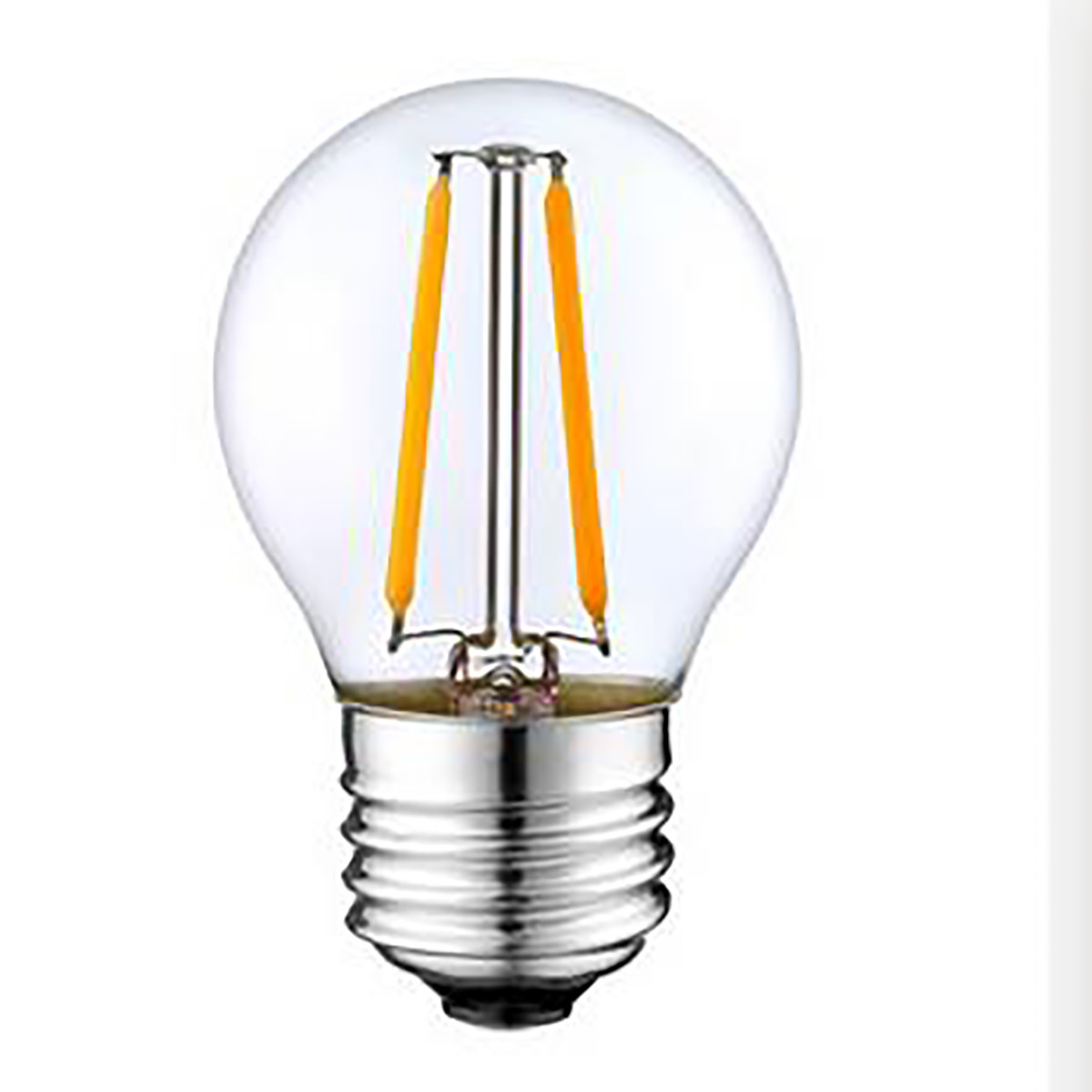 2W Filament LED Globe Light Bulb Light G45 Chandelier Bulb with E26 Base 20W Equivalent Halogen Replacement