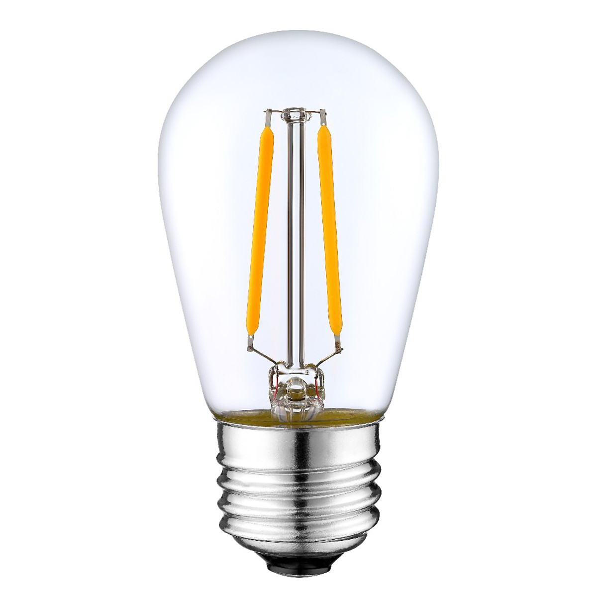 2W Filament LED T-Shape Light Bulb Light S14 Chandelier Bulb with E26 Base 20W Equivalent Halogen Replacement