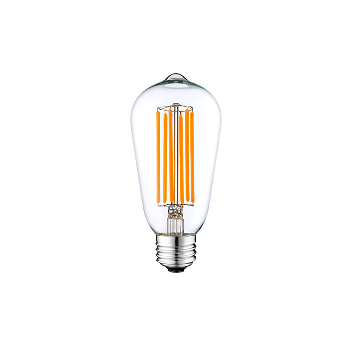 6W Filament LED T-Shape Light Bulb Light ST48 Chandelier Bulb with E26 Base 60W Equivalent Halogen Replacement