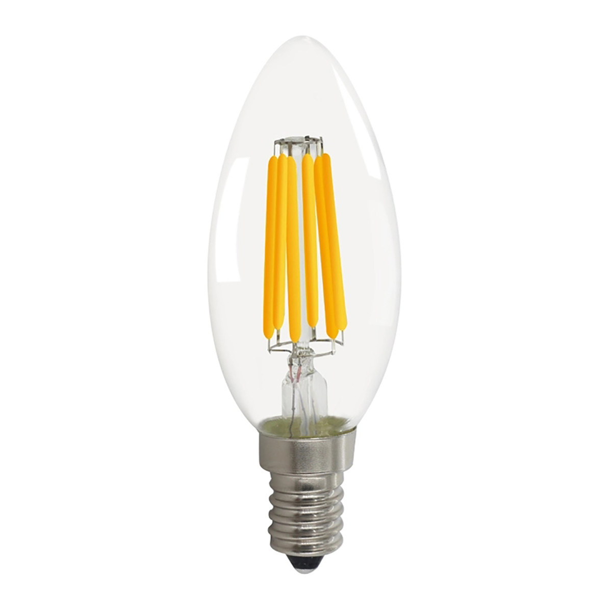 6W Filament LED Candle Light Bulb Light C35 Chandelier Bulb with E14 Base 60W Equivalent Halogen Replacement