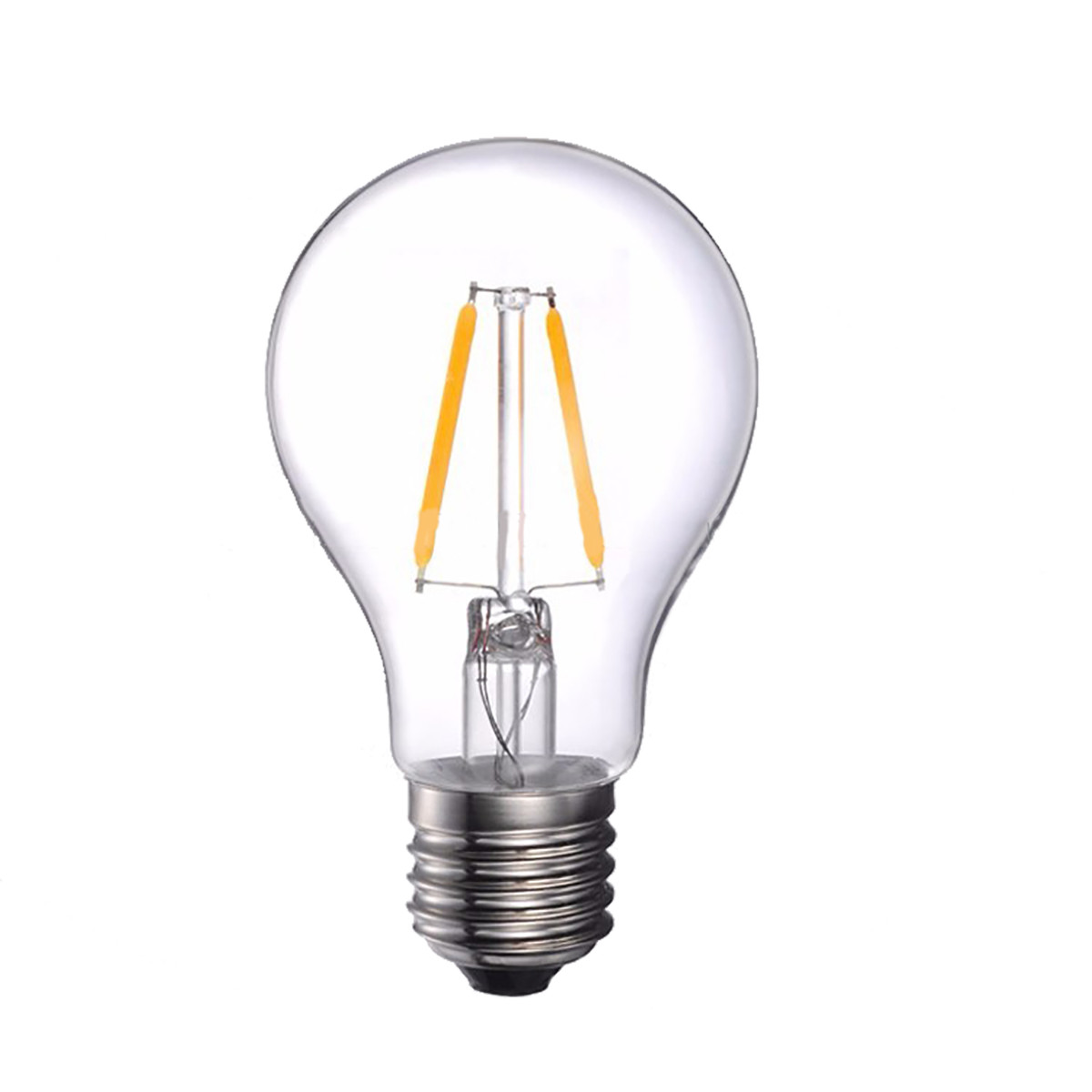 2W Filament LED Globe Light Bulb Light A60 Chandelier Bulb with E26 Base 20W Equivalent Halogen Replacement