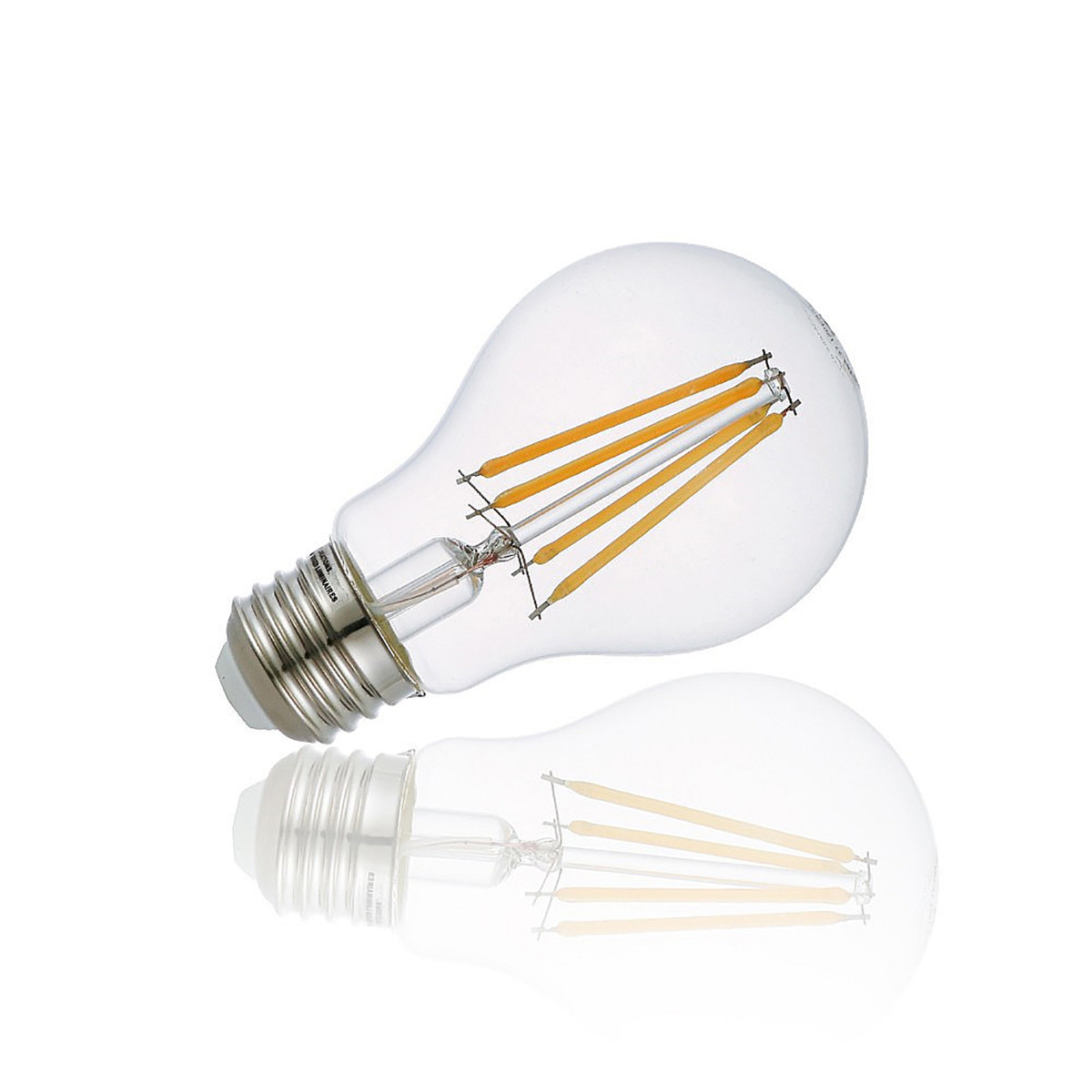 4W Filament LED Globe Light Bulb Light A60 Chandelier Bulb with E26 Base 40W Equivalent Halogen Replacement