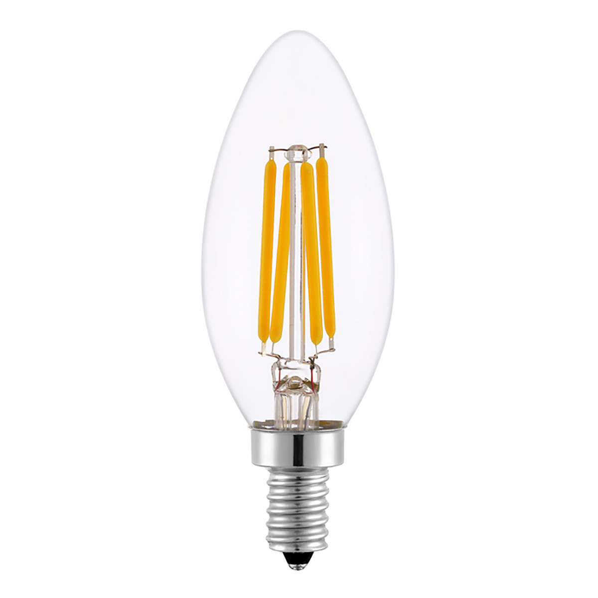 4W Filament LED Candle Light Bulb Light C35 Chandelier Bulb with E14 Base 40W Equivalent Halogen Replacement