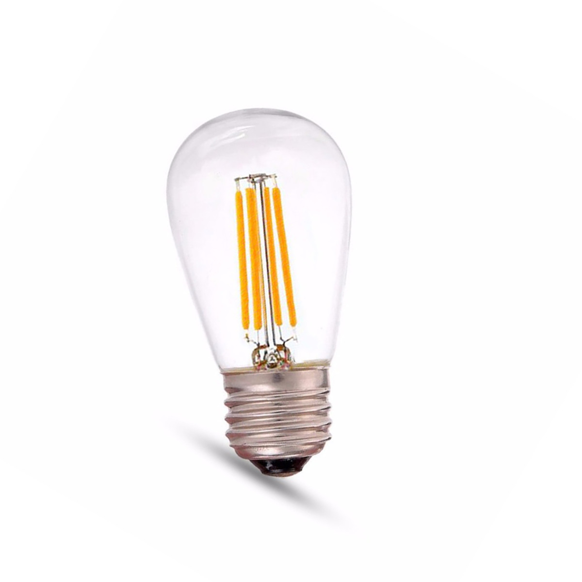 4W Filament LED T-Shape Light Bulb Light S14 Chandelier Bulb with E26 Base 40W Equivalent Halogen Replacement