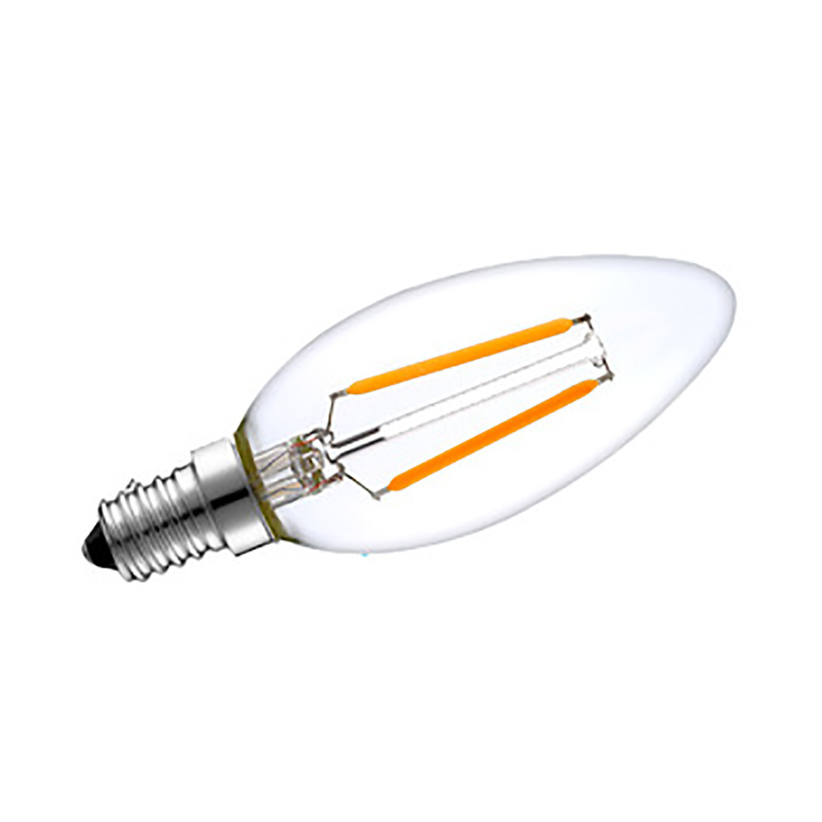 2W Filament LED Candle Light Bulb Light C35 Chandelier Bulb with E14 Base 20W Equivalent Halogen Replacement