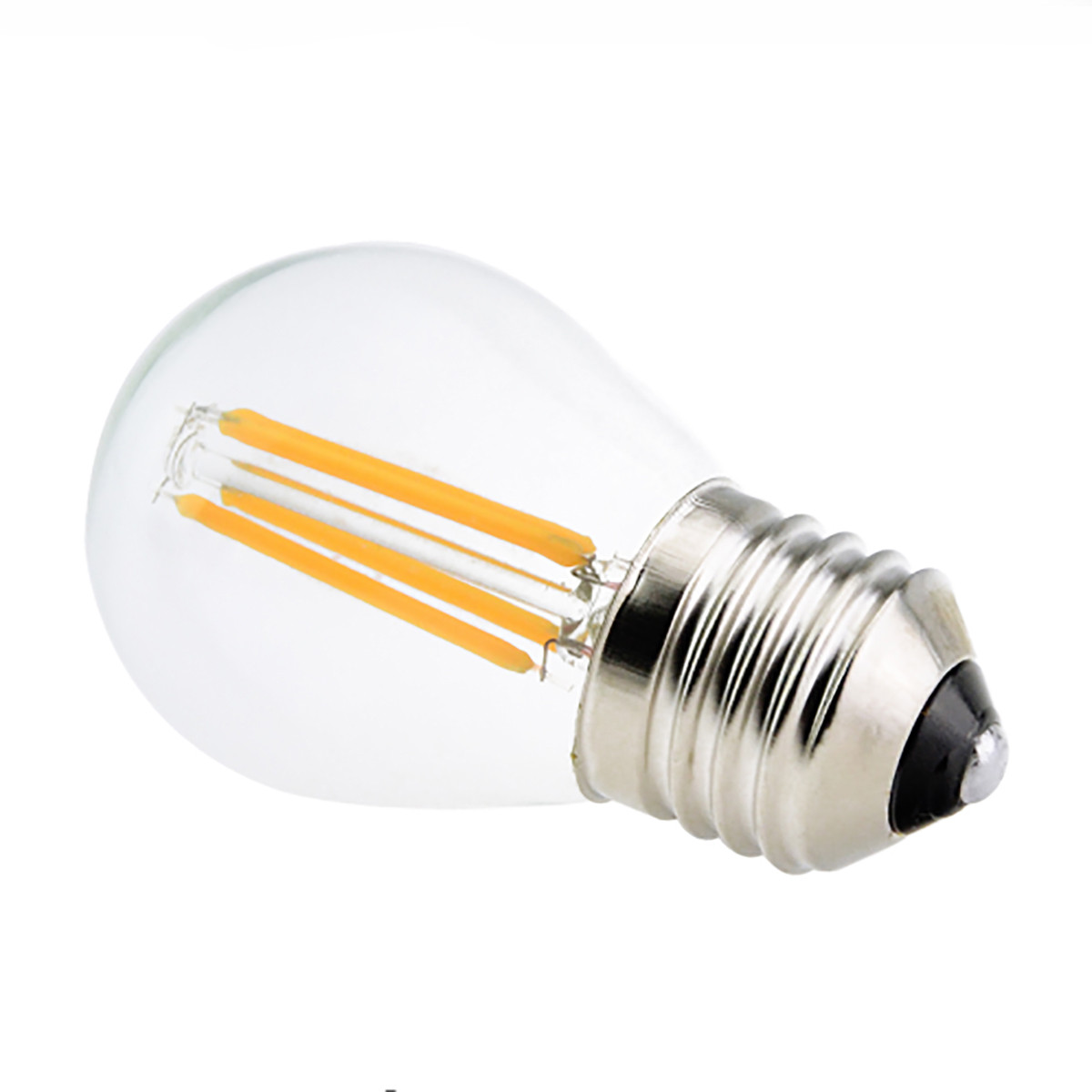 4W Filament LED Globe Light Bulb Light G45 Chandelier Bulb with E26 Base 40W Equivalent Halogen Replacement
