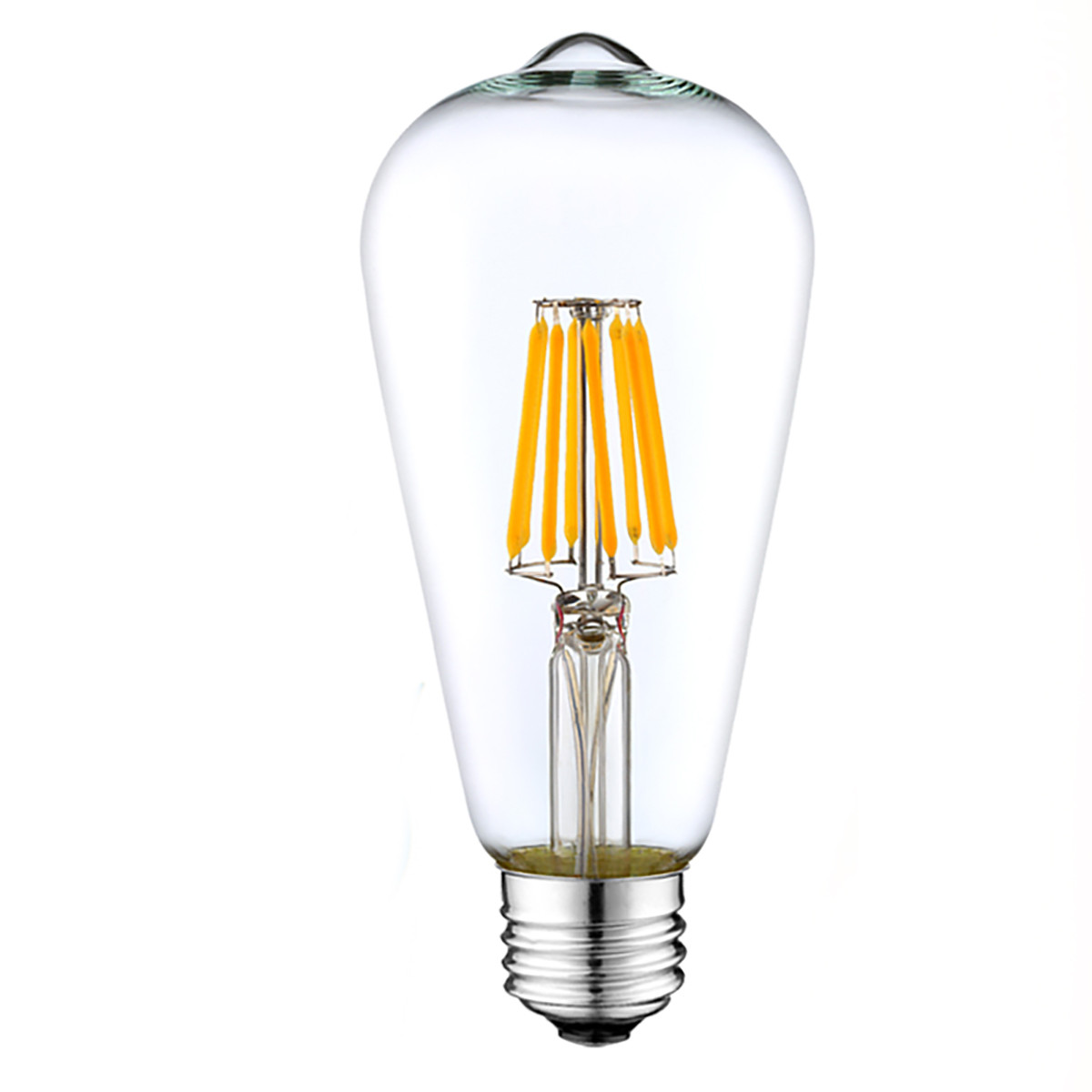 8W Filament LED T-Shape Light Bulb Light ST48 Chandelier Bulb with E26 Base 80W Equivalent Halogen Replacement
