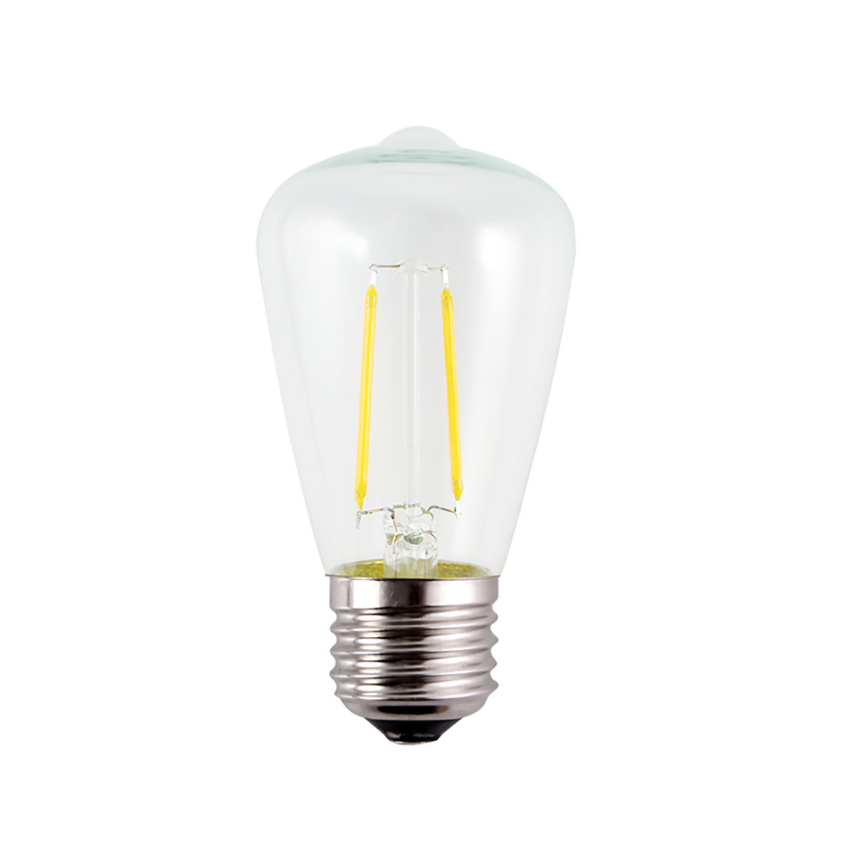 2W Filament LED T-Shape Light Bulb Light ST48 Chandelier Bulb with E26 Base 20W Equivalent Halogen Replacement