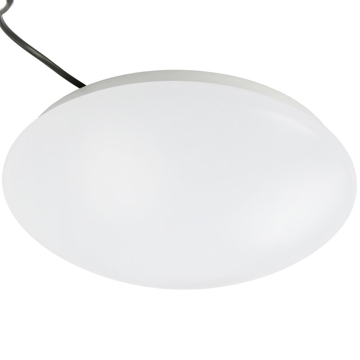 18W 13inch Modern LED Flush Mount Ceiling Light Fixture for Any Room  Round Acrylic Shade White Finish Mushroom Shape