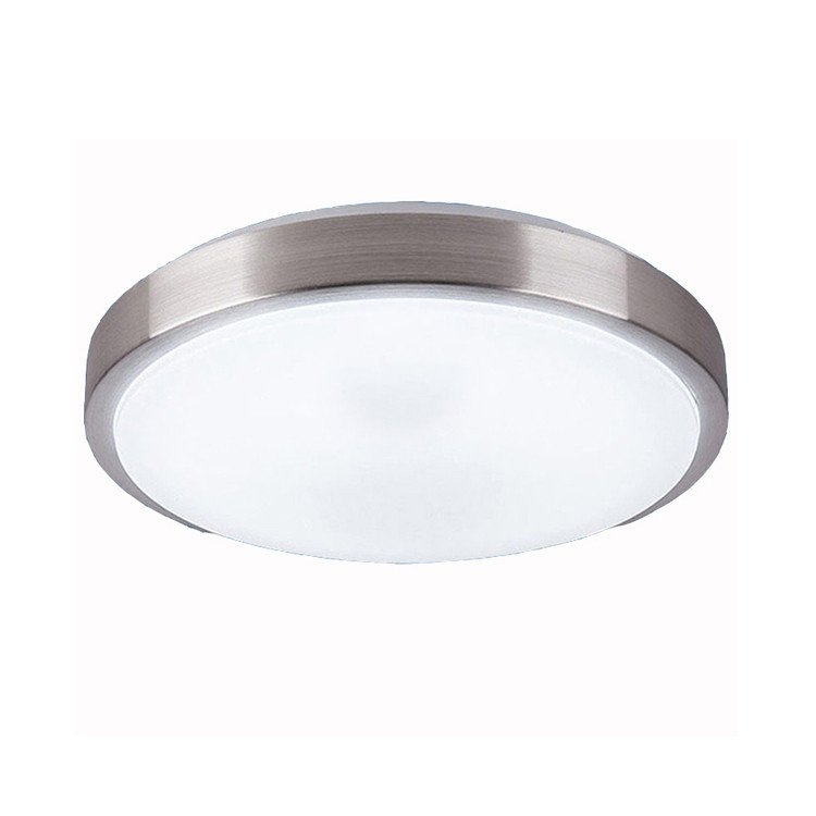 24W 15 inch Isolated Power Flush Mount Antique with Brushed Nickel edgeTri-ple white Options LED Ceiling Light for Home Lighting