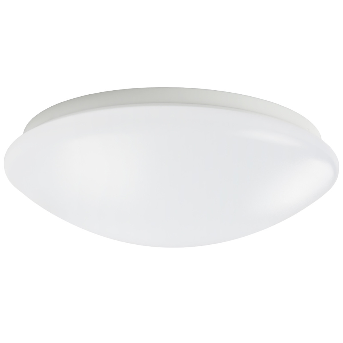 18W 11.40 inch Modern LED Flush Mount Ceiling Light Fixture for Any Room Round Acrylic Shade White Finish Mushroom Shape and CCT changable with RF control