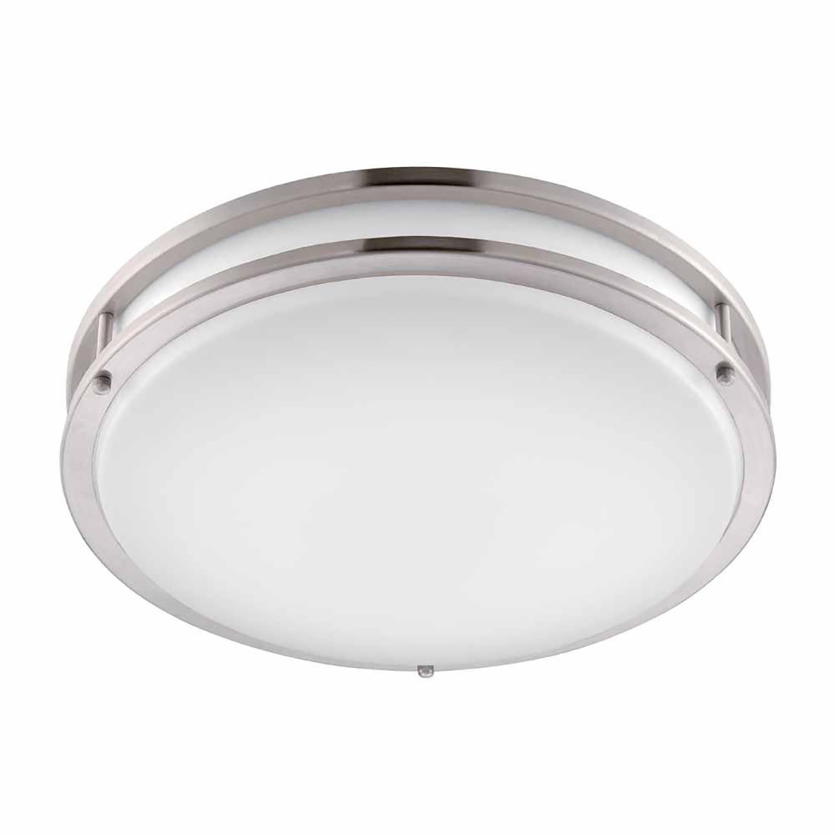 18W 12inch ,80Lm/W ,Flush Mount, Round Nickel Finish with Acrylic shade ,Dimmable Triple CCTS Changeable regularly By RF control Ceiling Light Fixture for Home Lighting