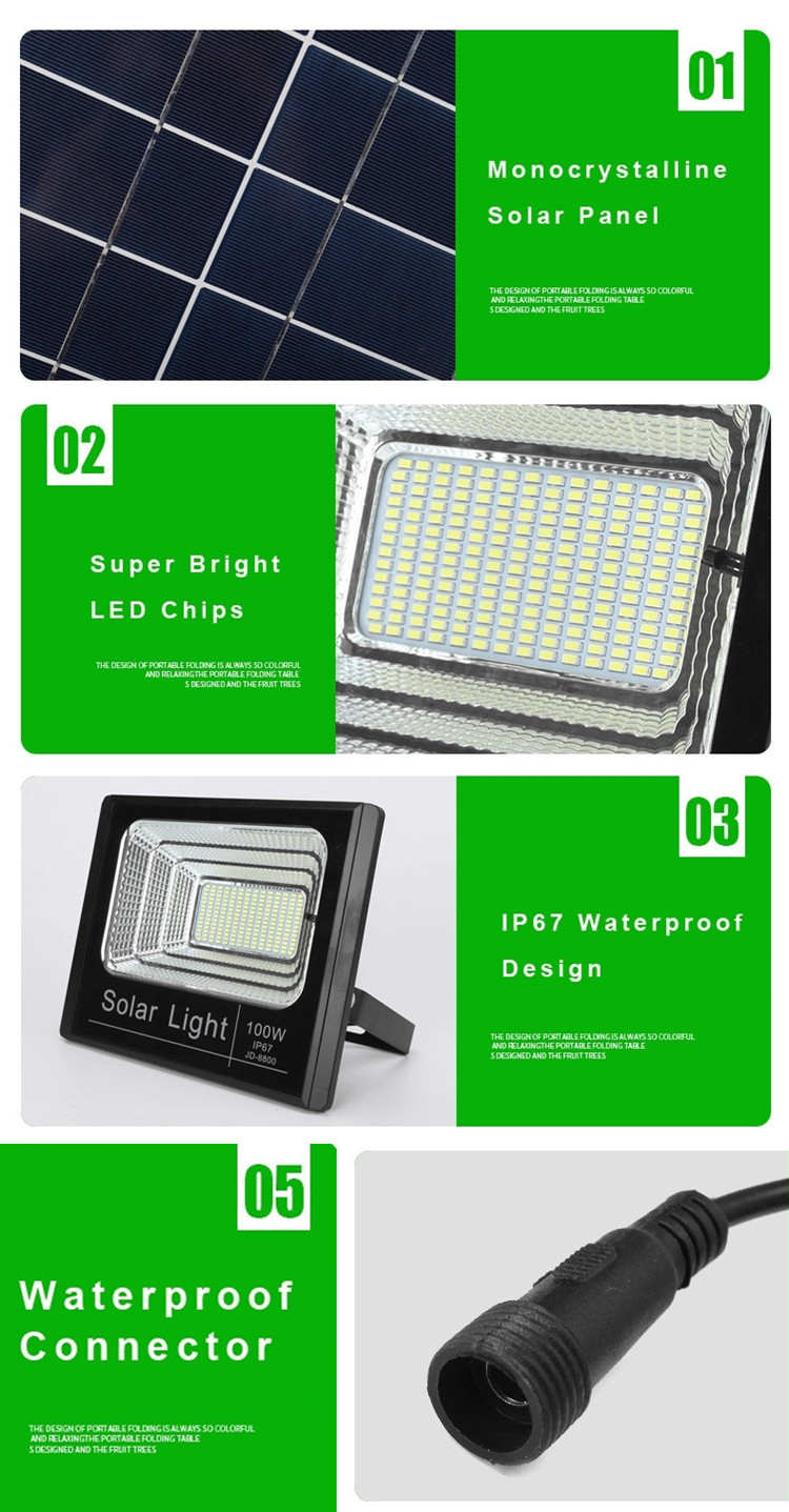 High Power Ip67 Outdoor Waterproof Dusk To Dawn Led Solar