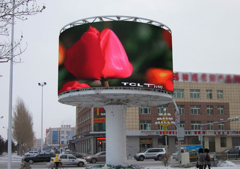 Outdoor LED Display Screen Ball or Cylinder